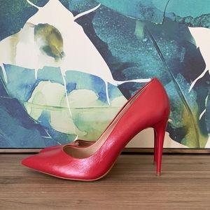 Zara Shoes - NWT red ZARA pointy toe heels size 39